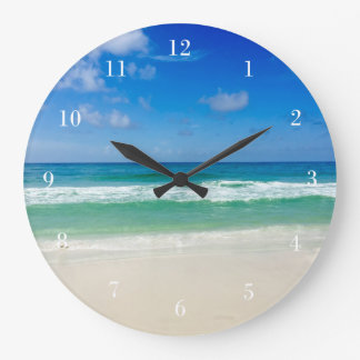 Beach Photography Take Me To the Sea Large Clock