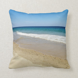 Beach photography throw pillow