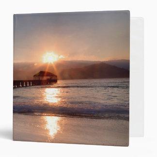 Beach pier at sunset, Hawaii Binders