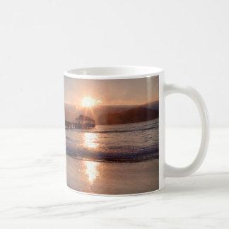 Beach pier at sunset, Hawaii Coffee Mug