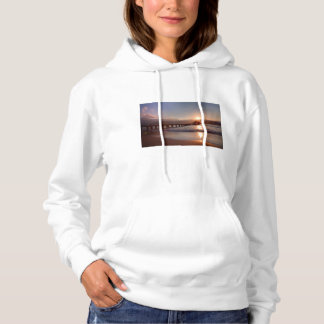 Beach pier at sunset, Hawaii Hoodie
