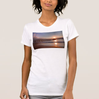 Beach pier at sunset, Hawaii T-Shirt