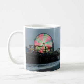Beach Pier Ferris Wheel Nighttime Boardwalk Coffee Mug