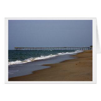 Beach Pier Greeting Card