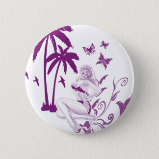 Beach Pin-Up 2 Inch Round Button