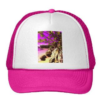 Beach pink one trucker hat