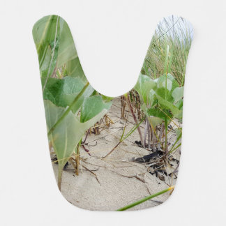 Beach plants summer bib