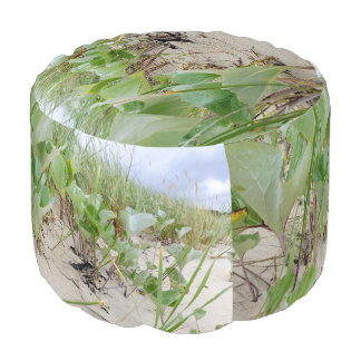 Beach plants summer pouf