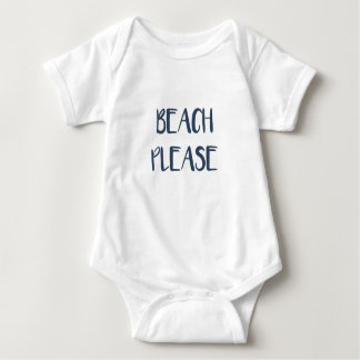 Beach Please Baby Bodysuit