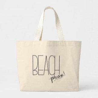 Beach Please! Beach Tote Bag