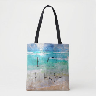 Beach Please Canvas Bag