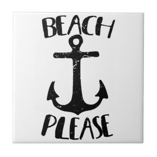 Beach Please Ceramic Tile