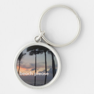Beach Please Keychain