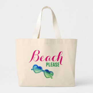Beach, Please! Large Tote Bag