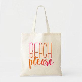 Beach Please | Pink and Orange Tote Bag