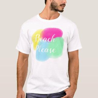 Beach Please T-Shirt  Surfer  Art Colourful