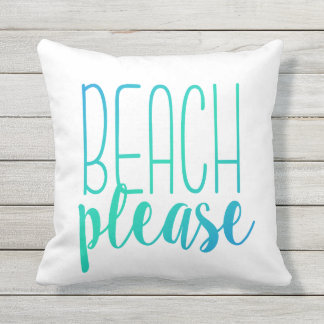 Beach Please | Turquoise Ombre Pillow