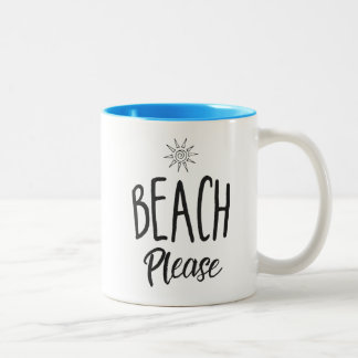 Beach Please Two-Tone Coffee Mug