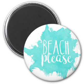 Beach Please White 2 Inch Round Magnet