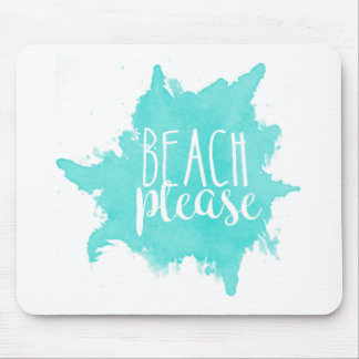 Beach Please White Mouse Pad