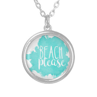 Beach Please White Silver Plated Necklace