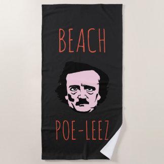 Beach Poe Leez Dark Beach Towel