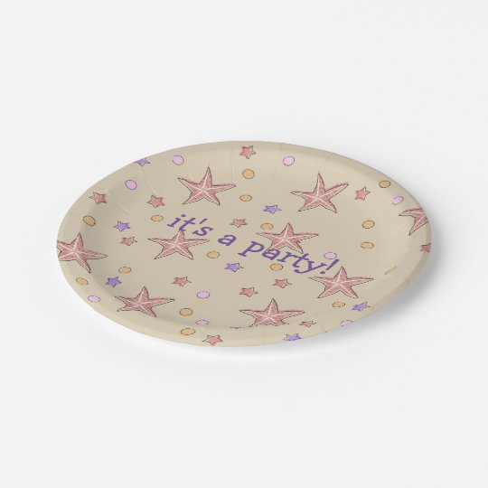 Beach Pool Party Plates 7 Inch Paper Plate