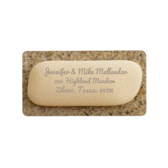 Beach Pottery Minimal Return Address Label