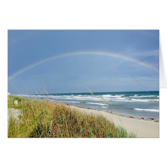 Beach Rainbow Note Card