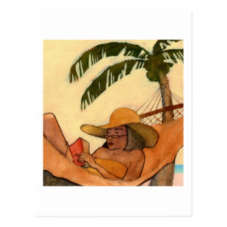 Beach Reading postcard