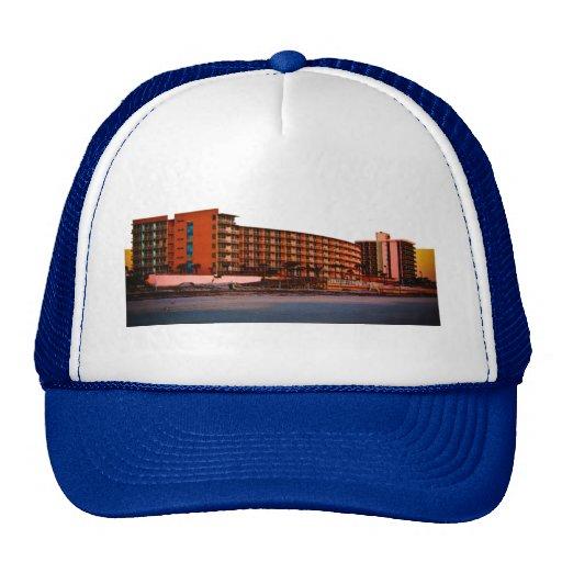 Beach Resorts in Daytona Beach Florida Landscape Mesh Hat