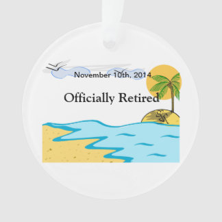 Beach Retirement Add Name And Date Ornament