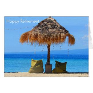 beach retirement card