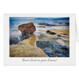 Beach Rock - Good Luck in your Exams Card