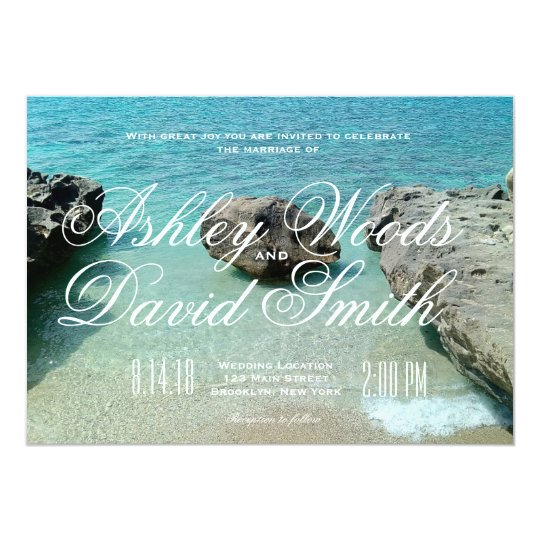 Beach Rock Wedding Invitation