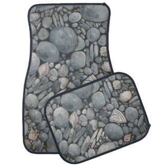 Beach Rocks and Stones Pebbles Car Mat