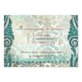 Beach RSVP Wedding Reply Card Seahorse