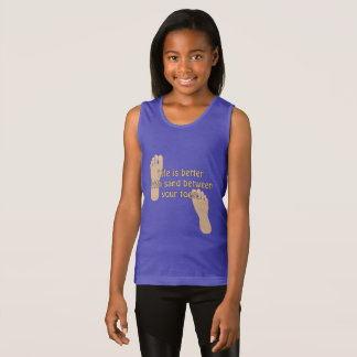 Beach Sand Between Toes Girls T-shirt