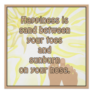 Beach Sand Between Toes Sunburn Npse Poster Perfect Poster