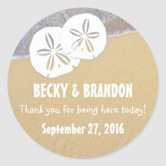 Beach Sand Dollars Wedding Favor Labels