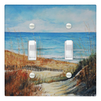 Beach Sand Dunes & Ocean Painting Light Switch Cover