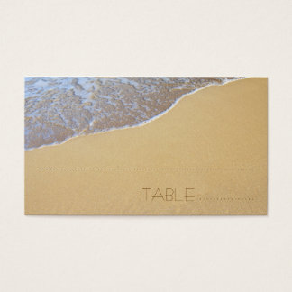 Beach Sand Escort, Table Number Cards