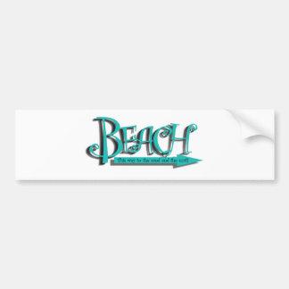 Beach sand-n-surf bumper sticker