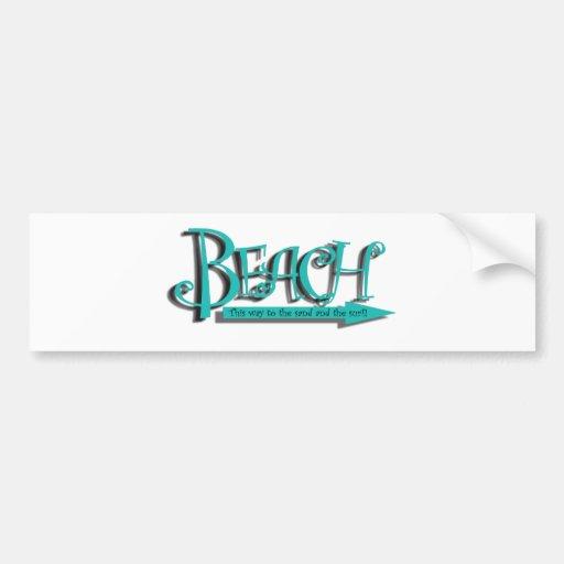 Beach sand-n-surf bumper stickers