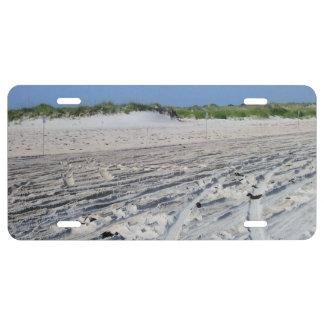 Beach Sand Scene (OBX, NC) License Plate