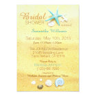 Beach Sand Seashell Beach Bridal Shower Card
