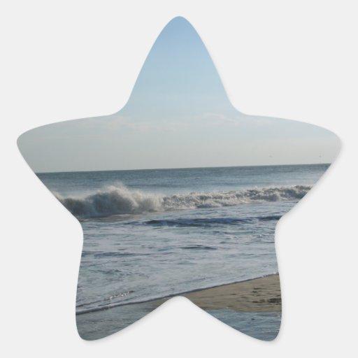 Beach & Sand Star-Shaped Wedding Stickers Star Stickers