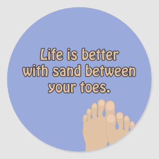Beach Sand Toes Ocean Blue Sticker