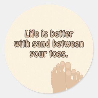 Beach Sand Toes Sticker