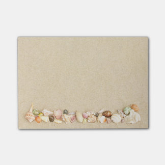 Beach Sand with Row of Sea Shells Post-it® Notes